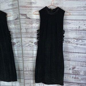 👛 Bebe 👛 Mini Black Velvet Dress